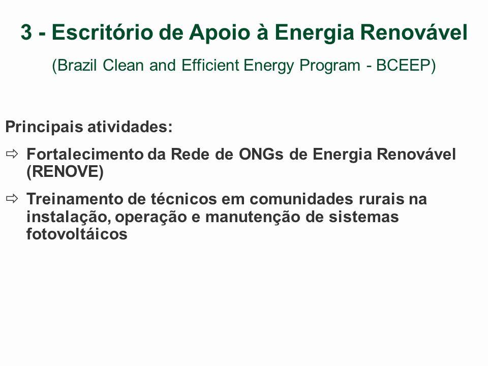 2 - Programa de Promoção de Tecnologias Limpas (Energy Technology Innovation Program) Trabalho realizado em parceria com a ANEEL Atividade: Identificação e avaliação de políticas públicas que criem condições para o desenvolvimento de projetos de energia renovável e eficiência energética