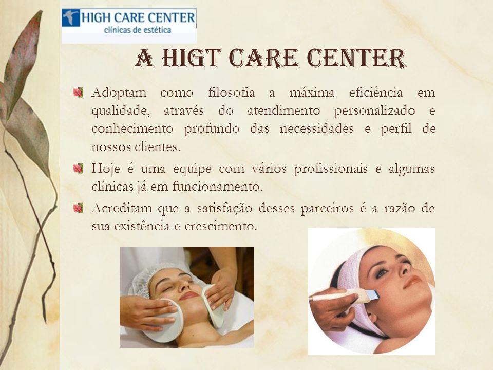 A higt care center Adoptam como filosofia a máxima eficiência em qualidade, através do atendimento personalizado e conhecimento profundo das necessida