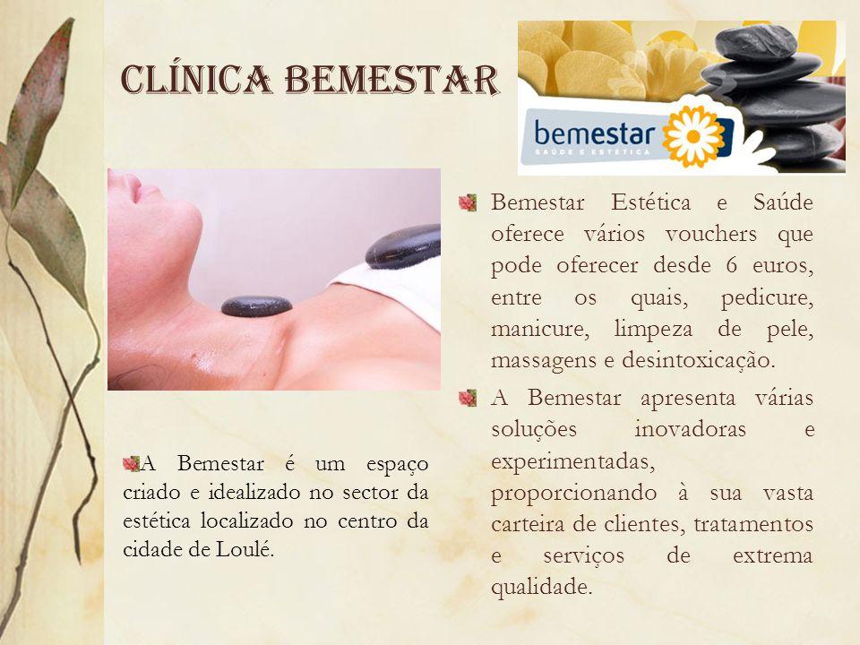 Clínica Bemestar Bemestar Estética e Saúde oferece vários vouchers que pode oferecer desde 6 euros, entre os quais, pedicure, manicure, limpeza de pel