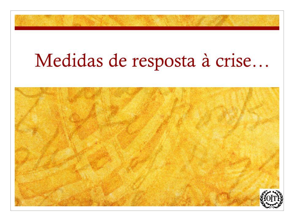 Medidas de resposta à crise…