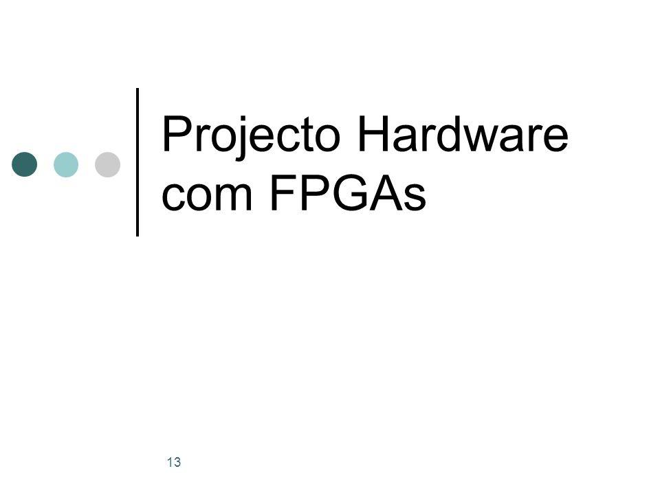 13 Projecto Hardware com FPGAs