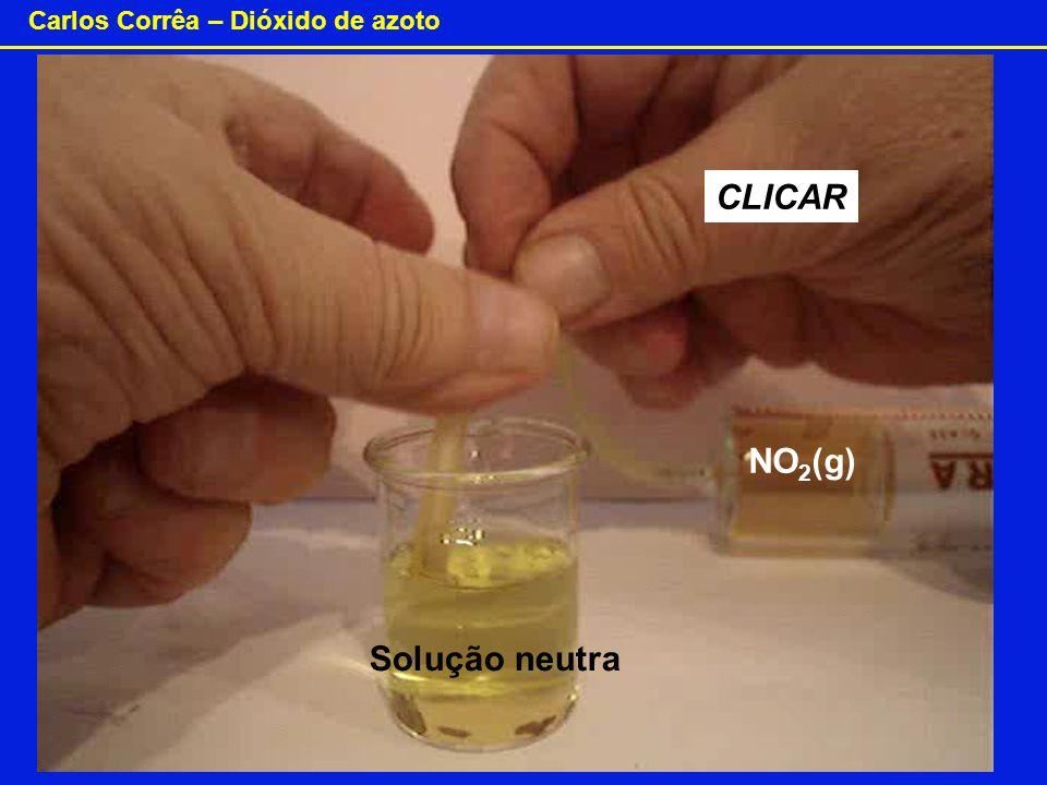 Carlos Corrêa – Dióxido de azoto CLICAR Solução neutra NO 2 (g)