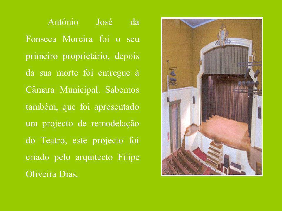 António José da Fonseca Moreira foi o seu primeiro proprietário, depois da sua morte foi entregue à Câmara Municipal. Sabemos também, que foi apresent