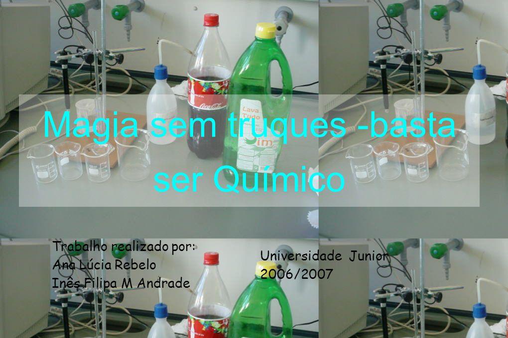Objectivo Esta experiência tinha como finalidade saber se os reagentes em relação ao pH eram ácidos, básicos ou neutros.