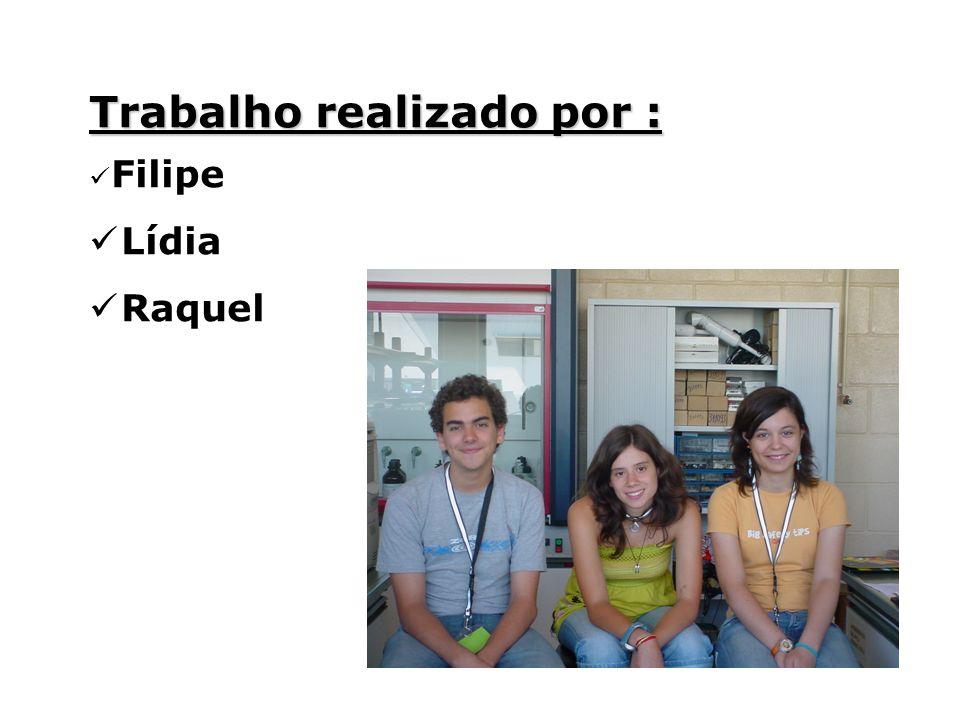 Trabalho realizado por : Filipe Lídia Raquel
