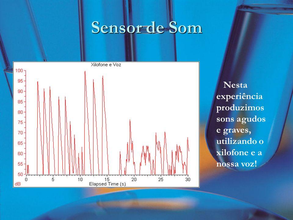 Sensor de Som Nesta experiência produzimos sons agudos e graves, utilizando o xilofone e a nossa voz!