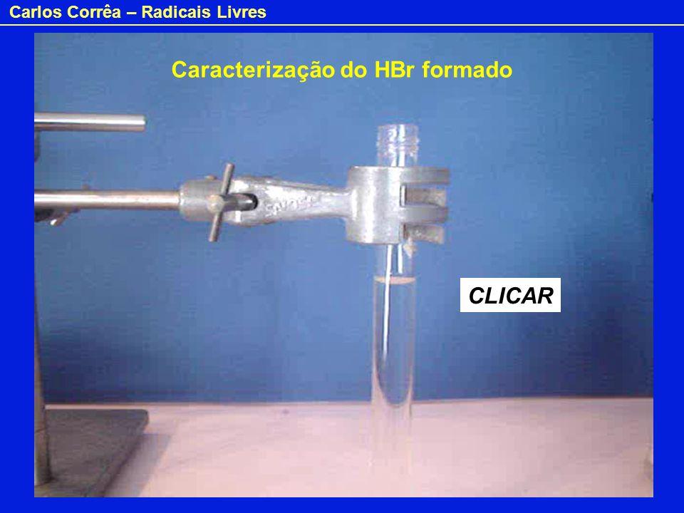 Carlos Corrêa – Radicais Livres Caracterização do HBr formado CLICAR