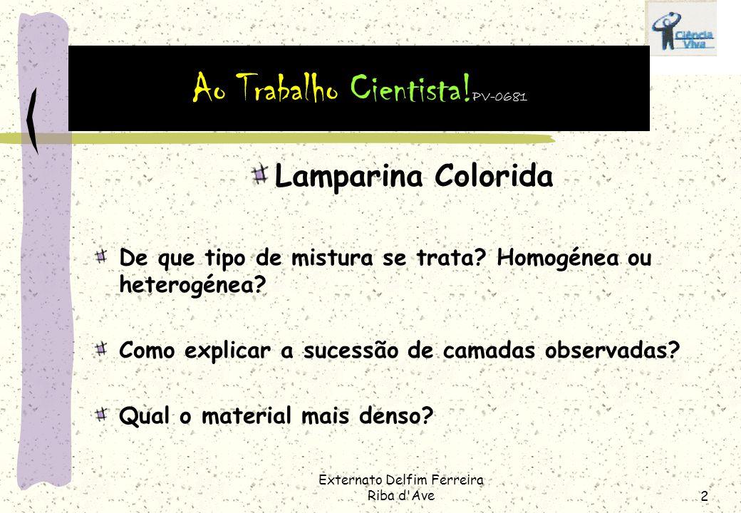 Externato Delfim Ferreira Riba d Ave2 Lamparina Colorida De que tipo de mistura se trata.