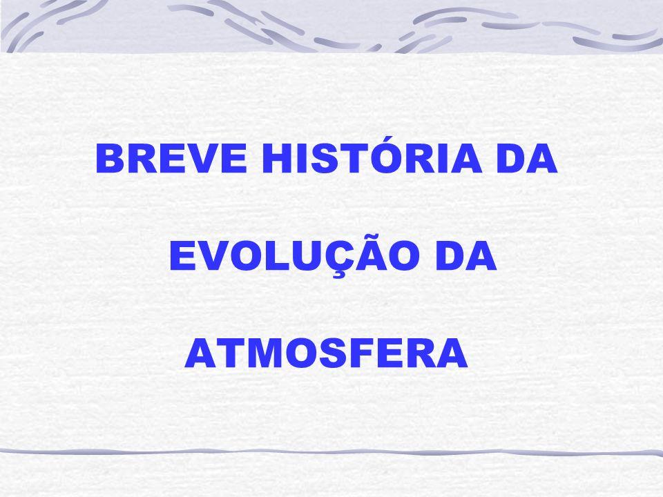BREVE HISTÓRIA DA EVOLUÇÃO DA ATMOSFERA