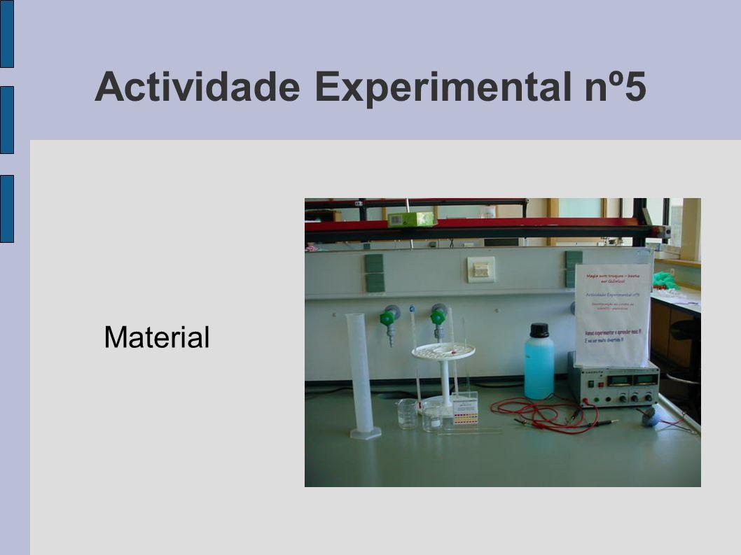 Actividade Experimental nº5 Material