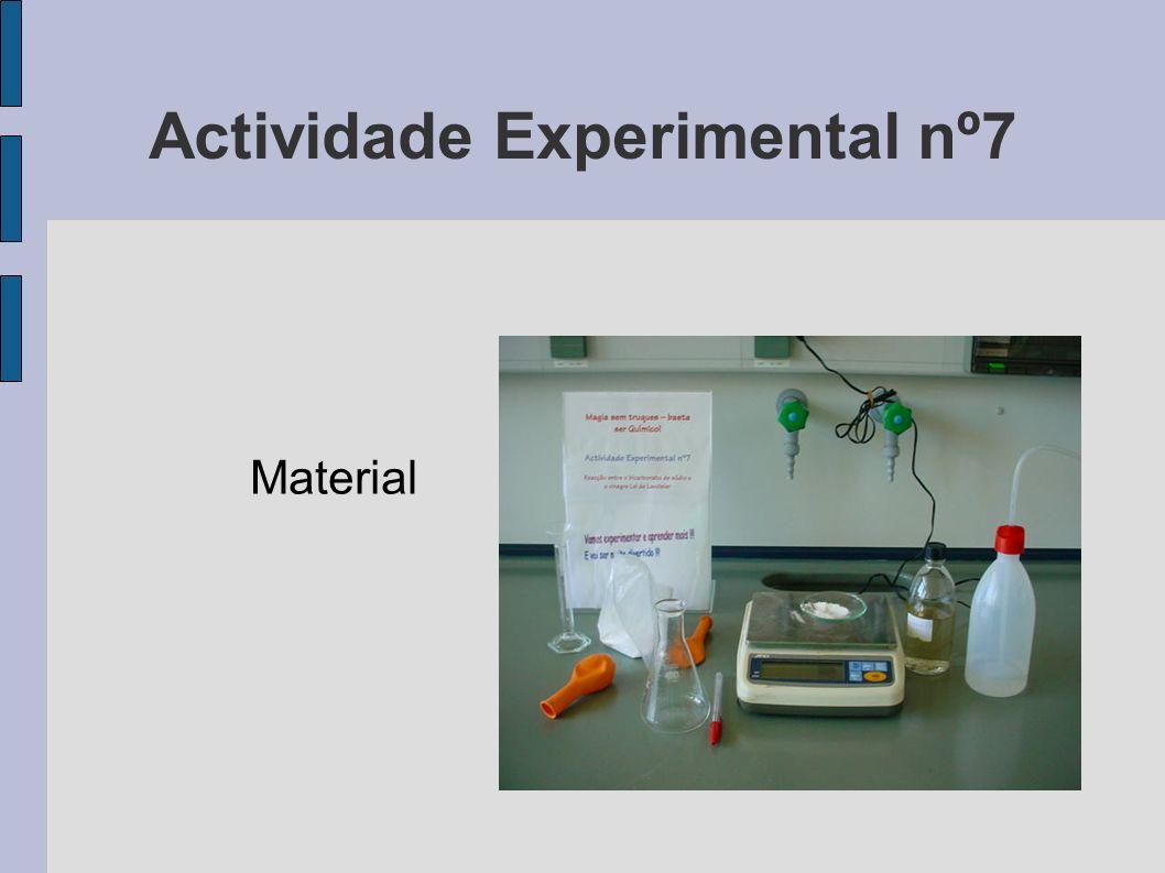 Actividade Experimental nº7 Material