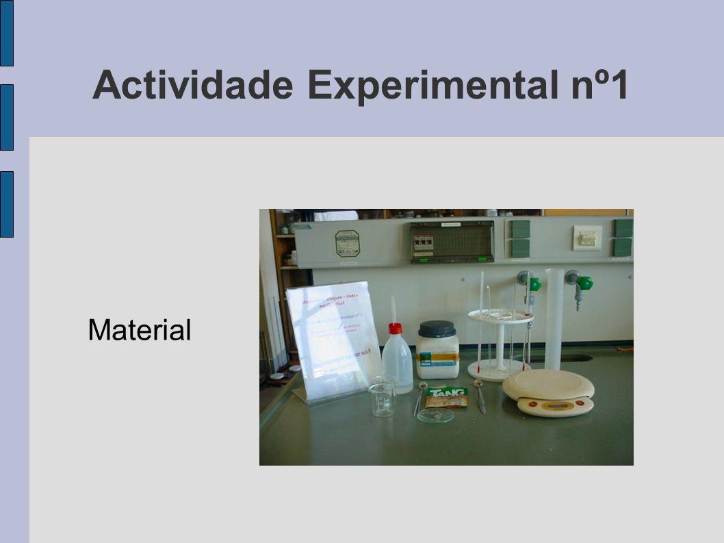 Actividade Experimental nº1 Material