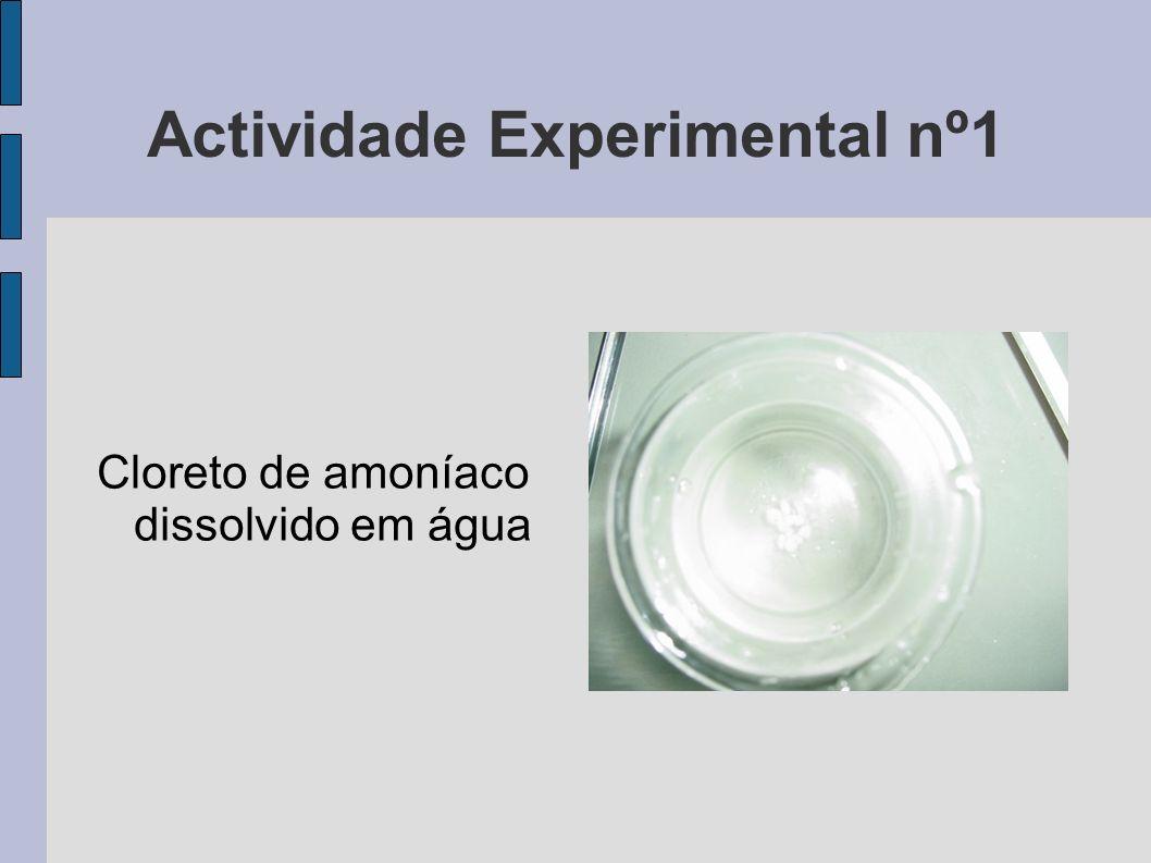 Actividade Experimental nº1 Cloreto de amoníaco dissolvido em água