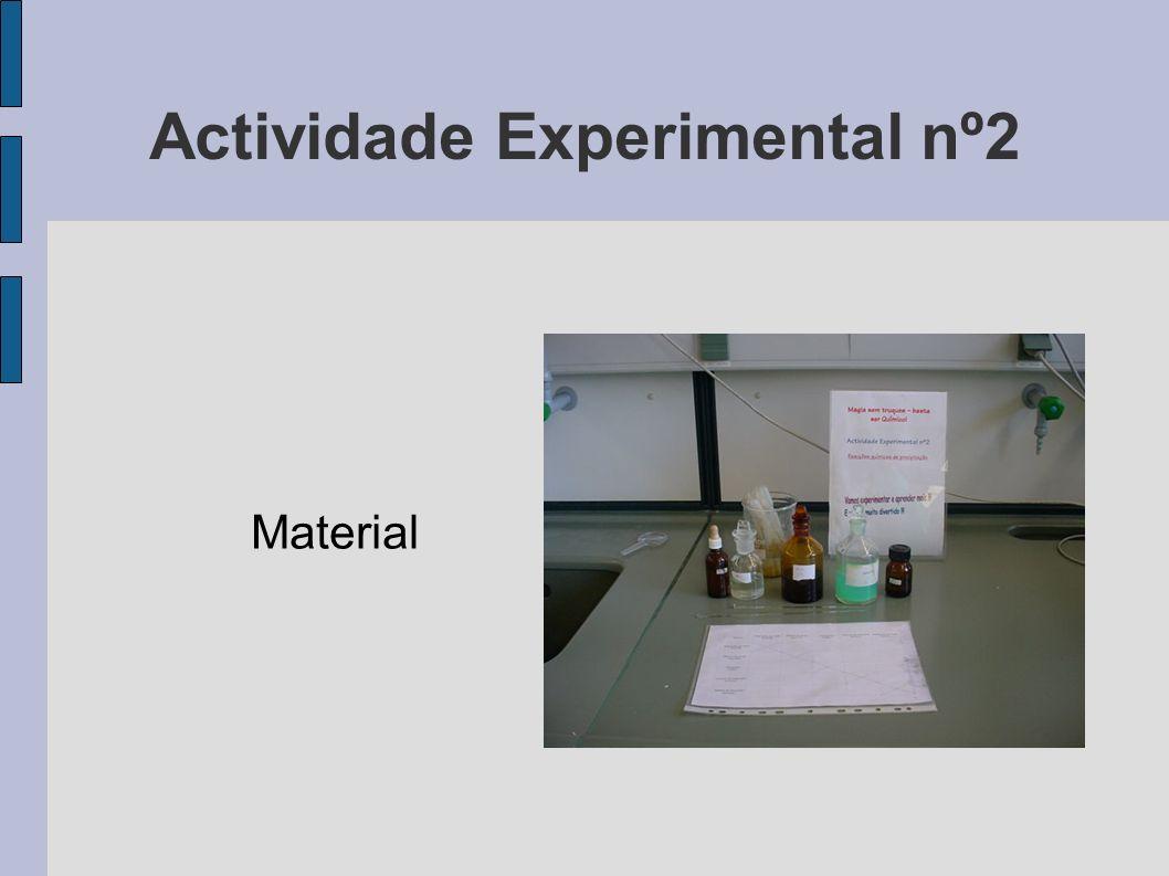 Actividade Experimental nº2 Material