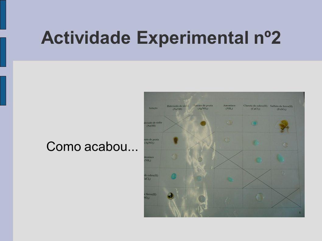 Actividade Experimental nº2 Como acabou...