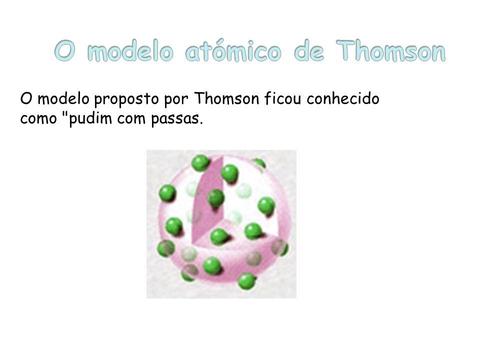 O modelo proposto por Thomson ficou conhecido como