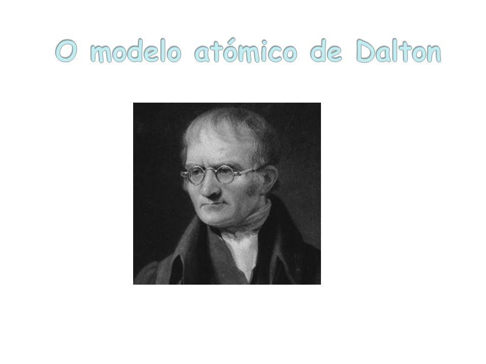 John Dalton explicou pela primeira vez as reacções químicas admitindo a existência de átomos.