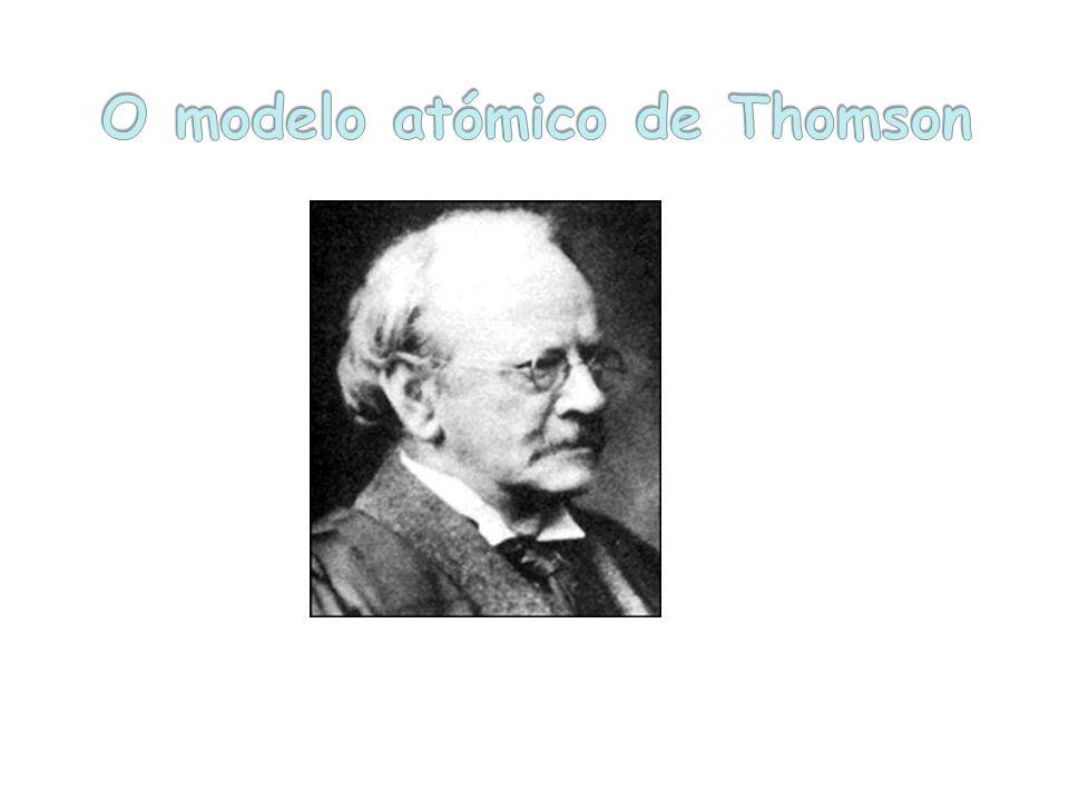 Em 1897 Thomson devido a experiencias anteriores realizadas por William Crookes realizou descargas eléctricas em gases estas experiências levaram à ideia da existência de partículas subatómicas de carga eléctrica negativa designadas de electrões.