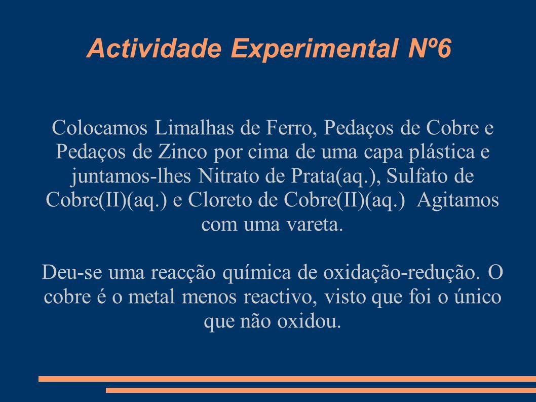 Actividade Experimental Nº7 Medimos 3,0 g Bicarbonato de Sódio com uma balança.