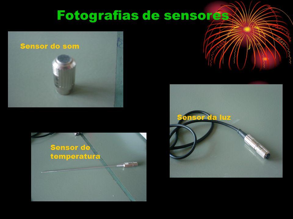 Fotografias de sensores Sensor do som Sensor da luz Sensor de temperatura