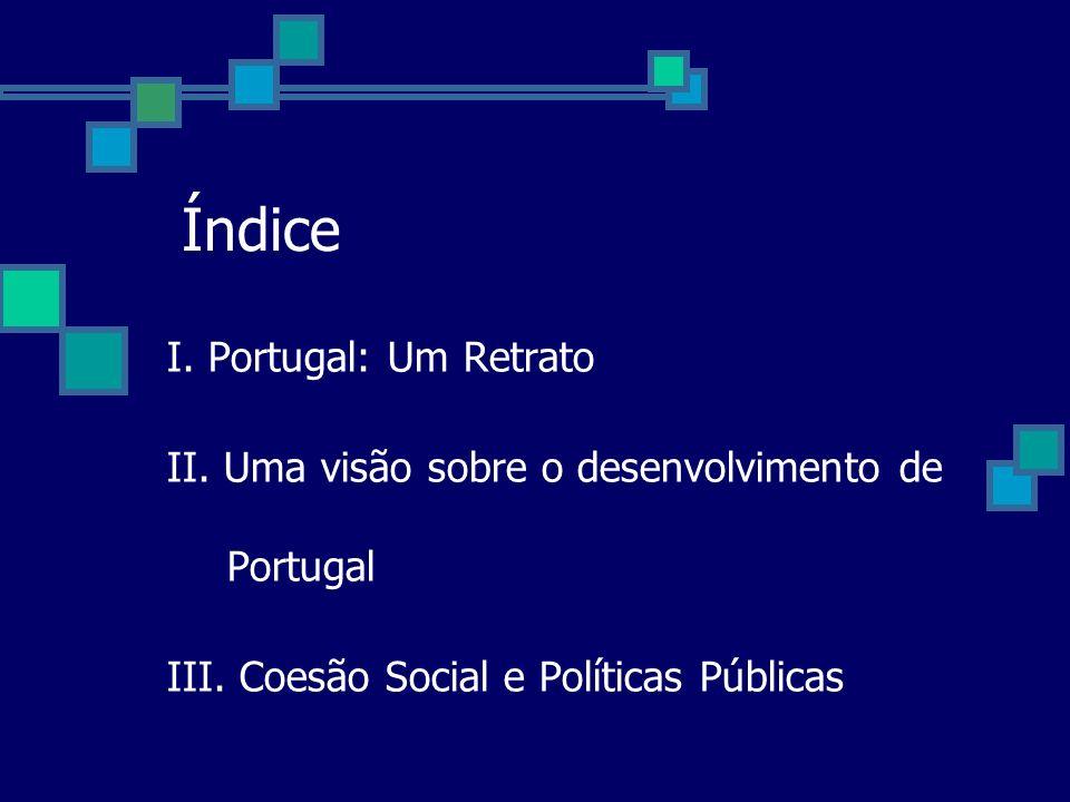 Índice I. Portugal: Um Retrato II. Uma visão sobre o desenvolvimento de Portugal III. Coesão Social e Políticas Públicas