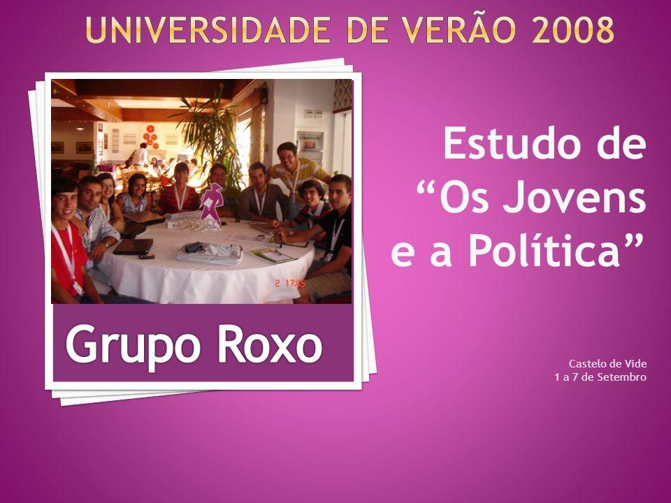 Estudo de Os Jovens e a Política Castelo de Vide 1 a 7 de Setembro
