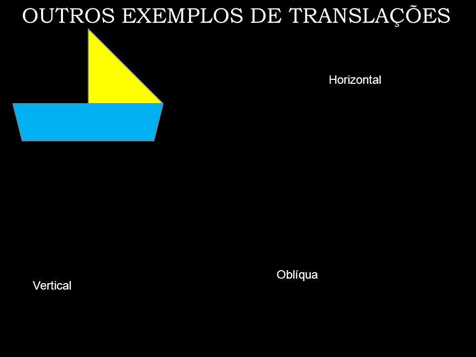 Translações horizontal, vertical e oblíqua