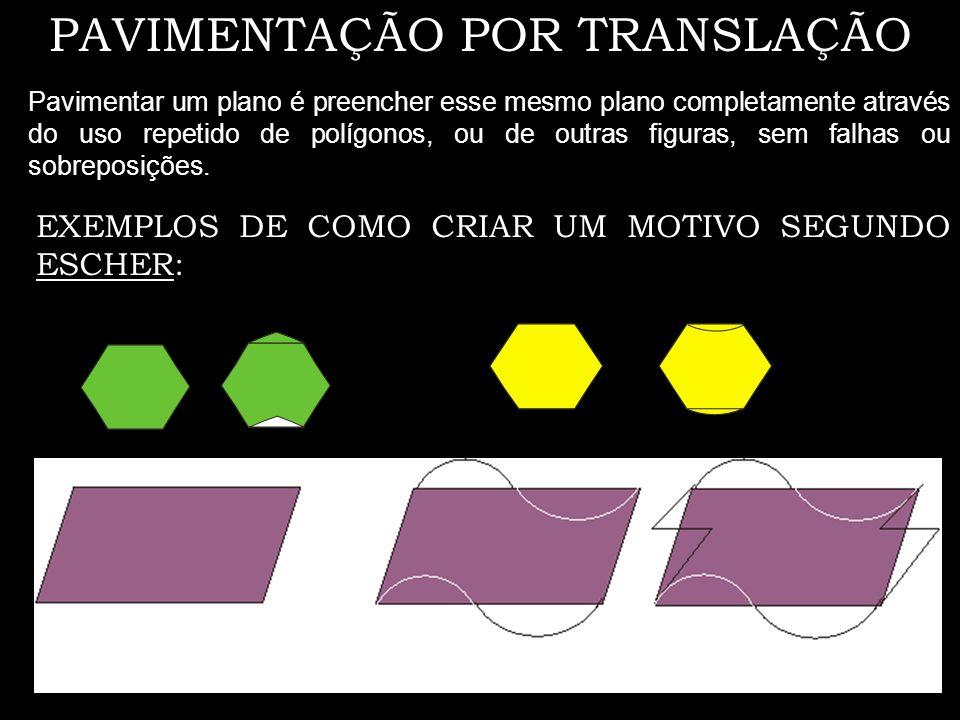 EXEMPLOS DE REFLEXÕES Reflexões deslizantes Reflexão deslizante é uma composição de uma reflexão com uma translação na qual o objecto se desloca paralelamente ao eixo de reflexão.