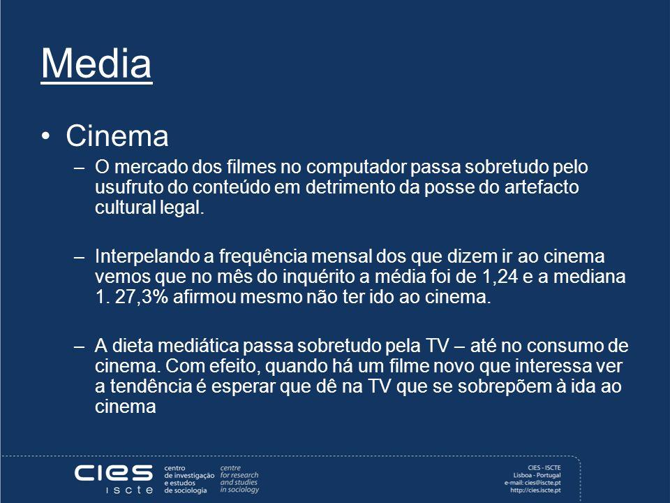 Media Cinema –O mercado dos filmes no computador passa sobretudo pelo usufruto do conteúdo em detrimento da posse do artefacto cultural legal.