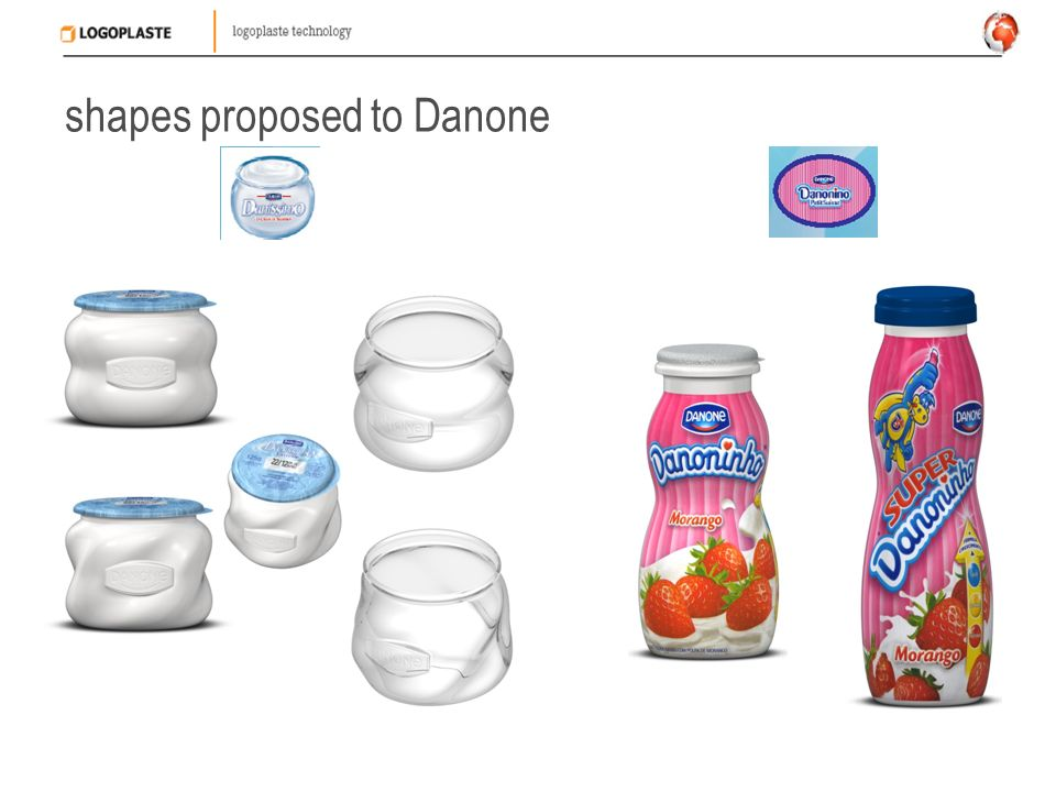 shapes proposed to Danone