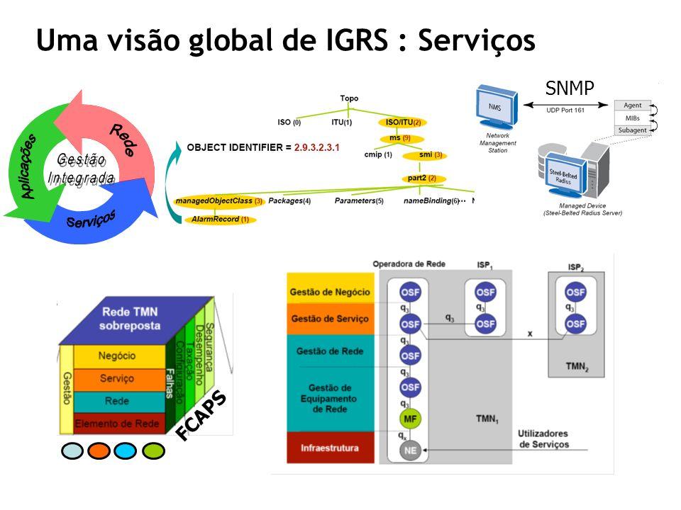SNMP FCAPS Uma visão global de IGRS : Serviços