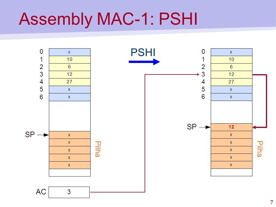 7 Assembly MAC-1: PSHI PSHI