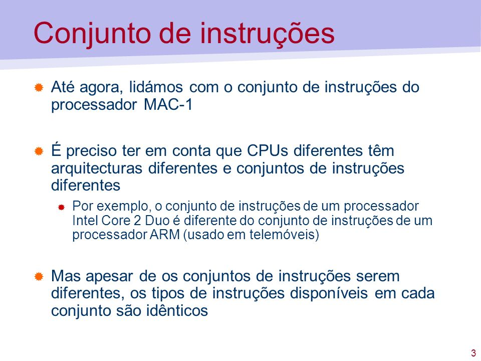 14 Formatos de instrução com 1 operando...