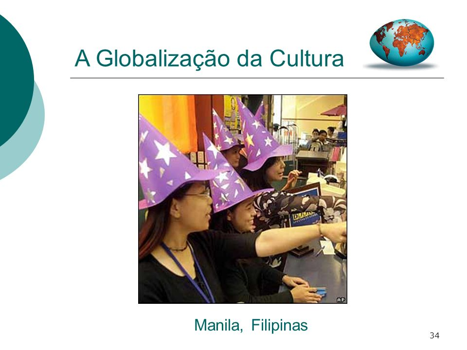 34 A Globalização da Cultura Manila, Filipinas