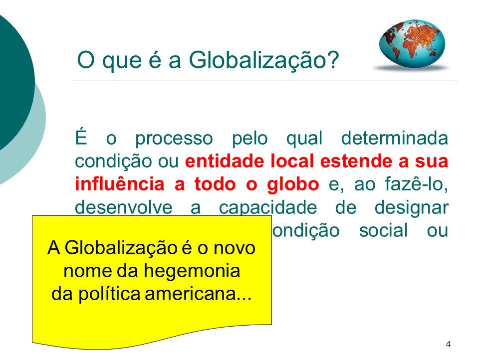 5 O que é a Globalização.