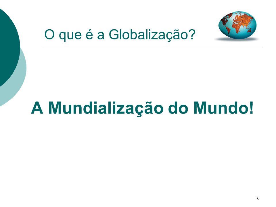 10 O que é a Globalização.