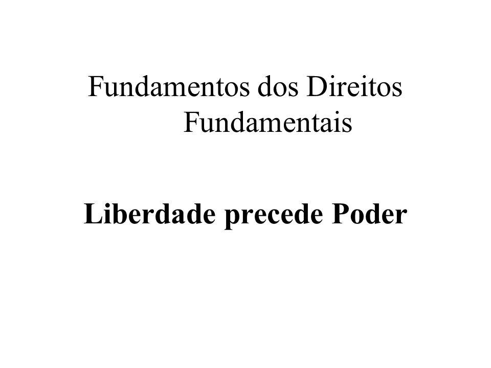 Fundamentos dos Direitos Fundamentais Liberdade precede Poder