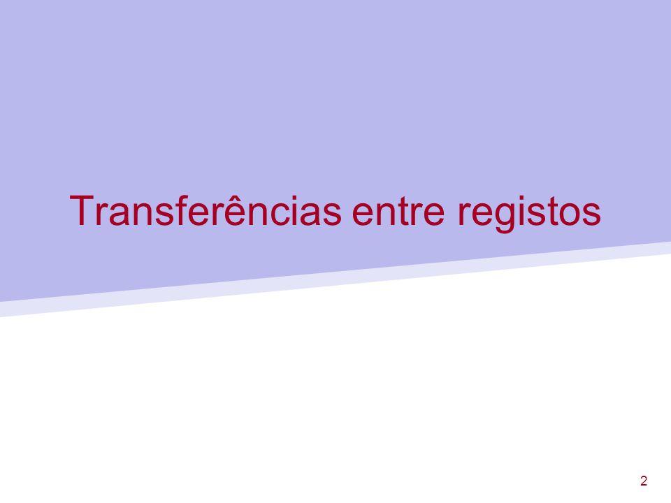 13 Utilização de descodificadores Selecção do registo destino Selecção do registo fonte