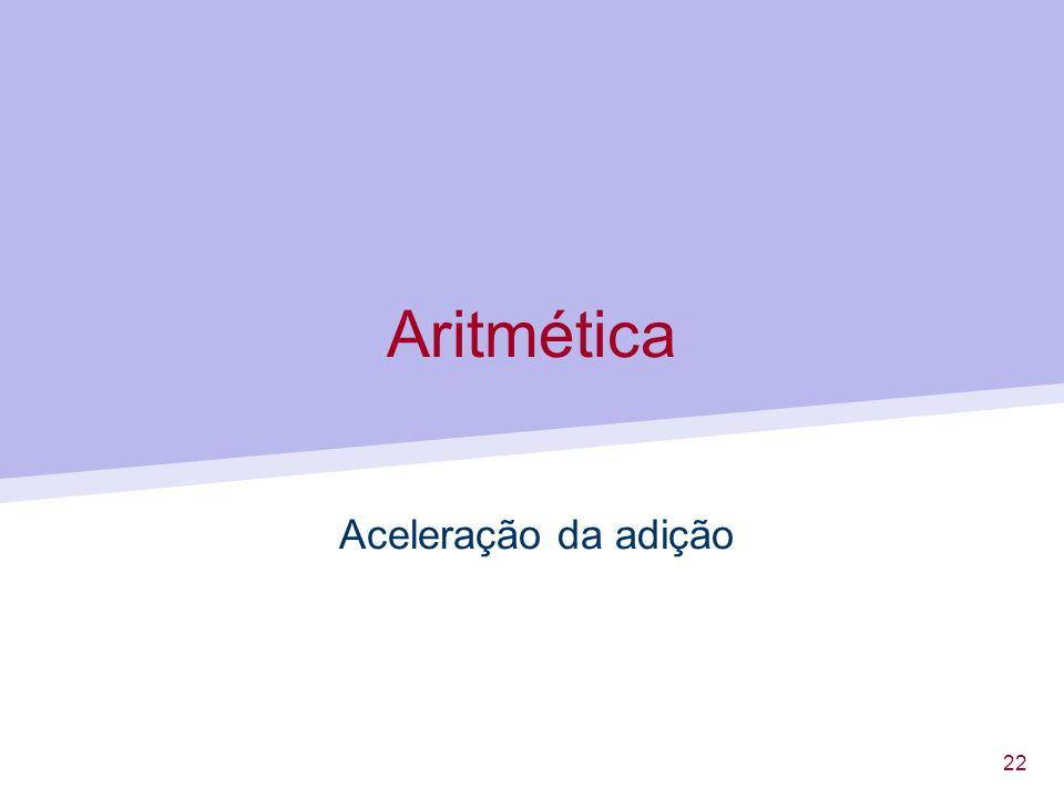 22 Aritmética Aceleração da adição