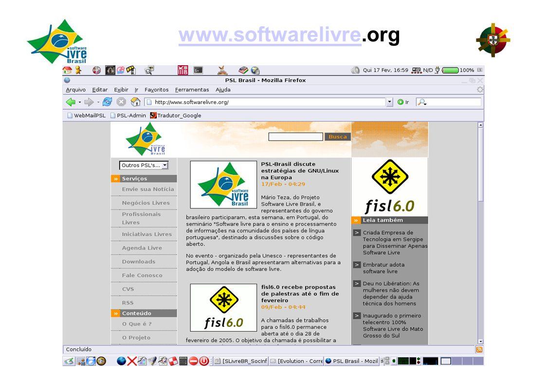 www.softwarelivrewww.softwarelivre.org