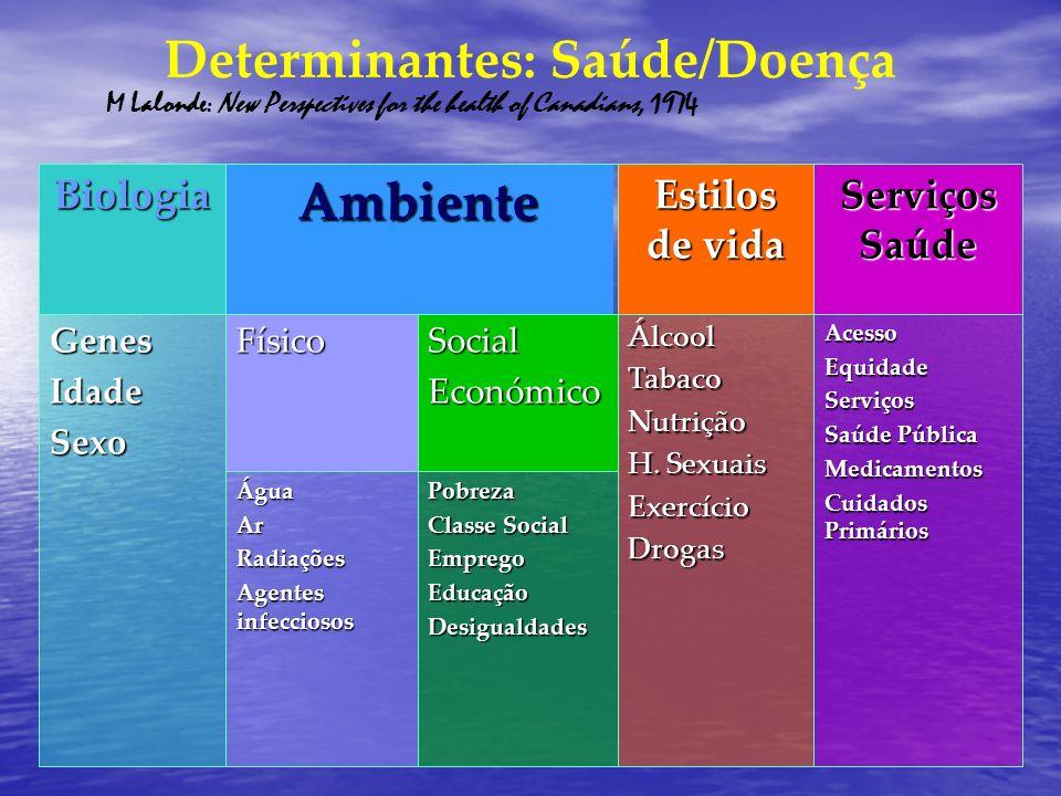 A promoção da saúde e a prevenção da doença - Calero, Miguel, y, Fernández, 2006- Promoção da saúde Prevenção Os objectivos Actuar sobe os determinantes da saúde Reduzir os factores de risco e as doenças.