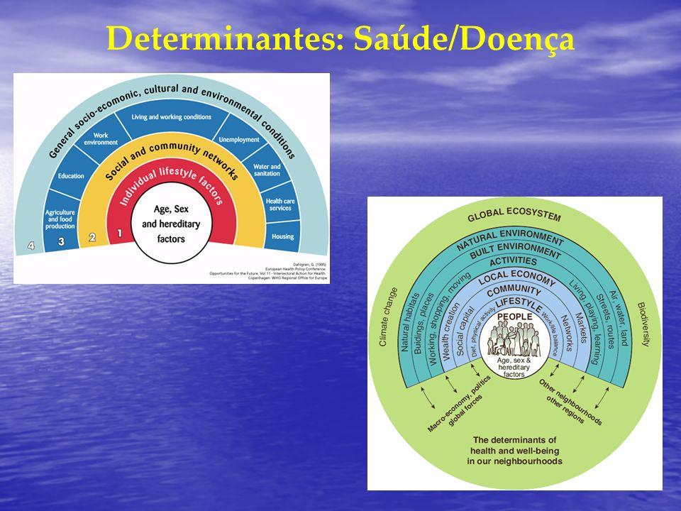 Determinantes: Saúde/Doença