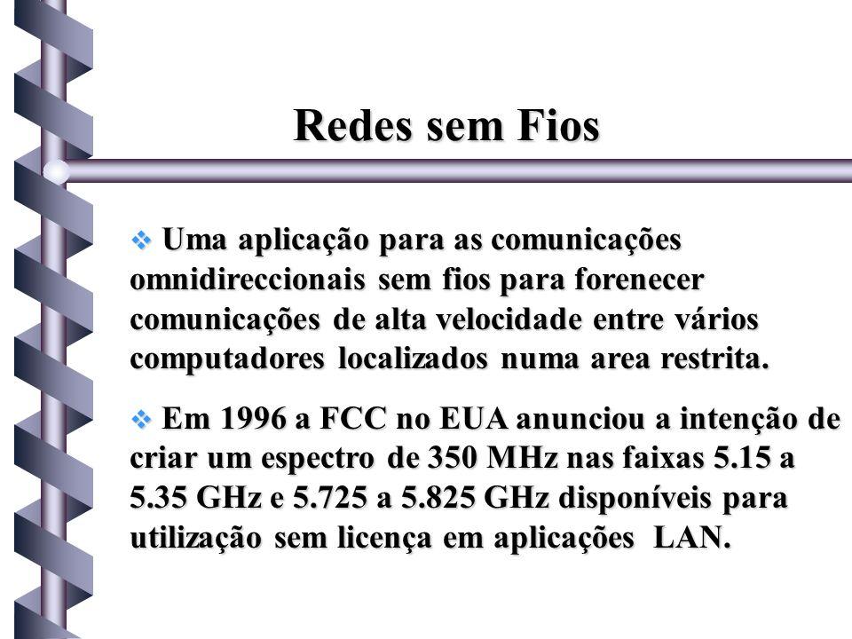Uma aplicação para as comunicações omnidireccionais sem fios para forenecer comunicações de alta velocidade entre vários computadores localizados numa