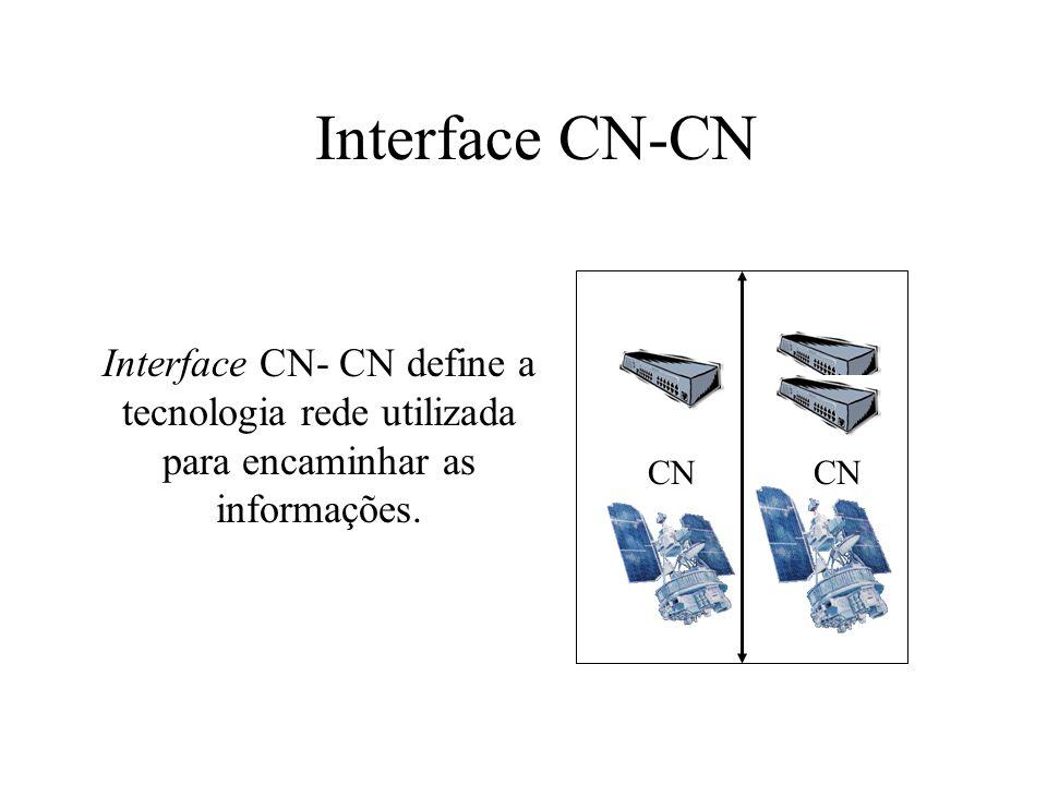 Interface CN-CN CN Interface CN- CN define a tecnologia rede utilizada para encaminhar as informações.