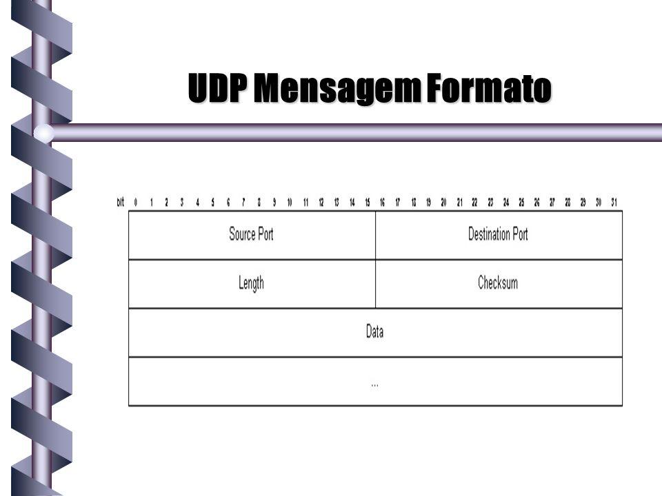 UDP Mensagem Formato
