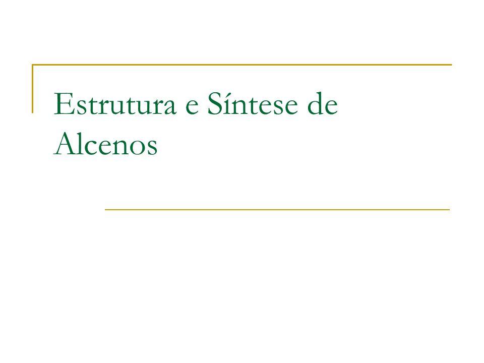 Estabilidade dos alcenos Medida por calor de hidratação: Alceno + H 2 Alcano + energia Mais calor libertado, alceno de maior energia.