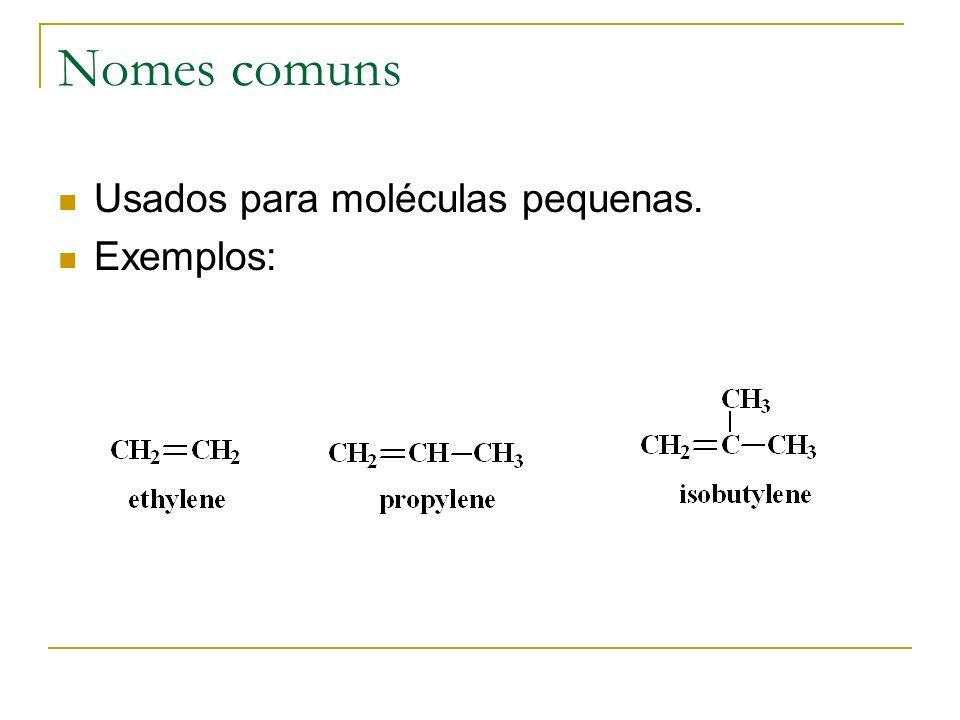 Isomerismo cis-trans Grupos semelhantes do mesmo lado da dupla ligação, o alceno é cis.