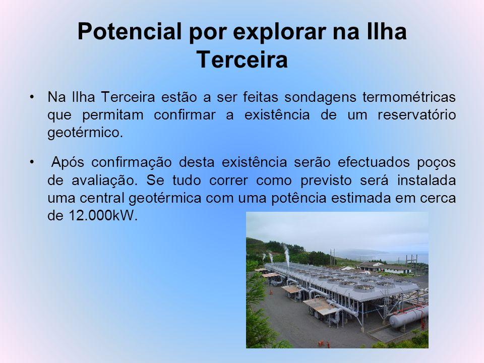 Potencial por explorar na Ilha Terceira Na Ilha Terceira estão a ser feitas sondagens termométricas que permitam confirmar a existência de um reservat