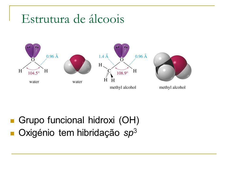 Classificação Primário: carbono ligado ao grupo –OH está ligado a outro carbono.