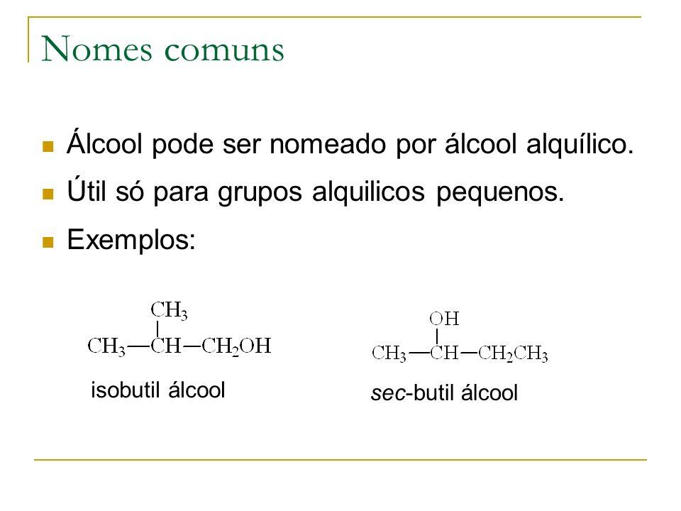 Redução dos álcoois Deshidratar com H 2 SO 4 conc. Depois adicionar H 2
